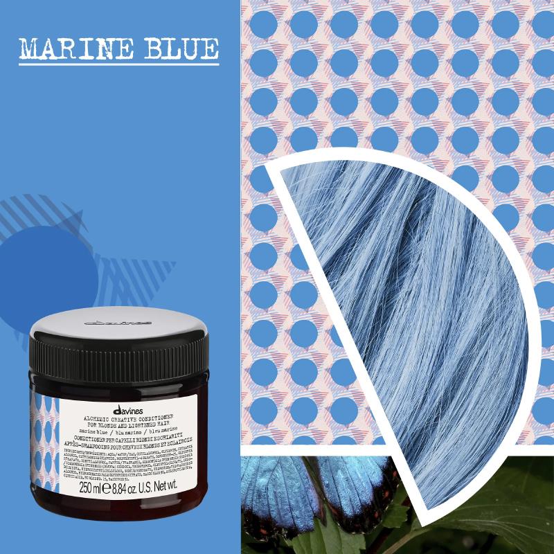 marine blue conditioner davines