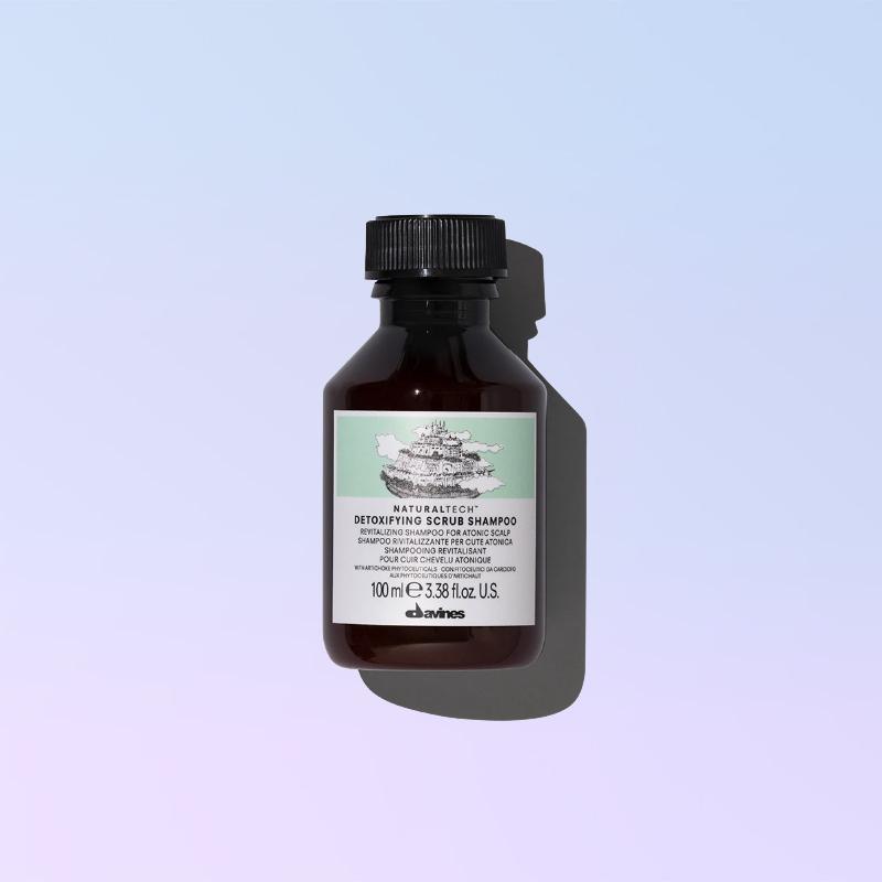 detoxifying scrub shampoo 100ml davines
